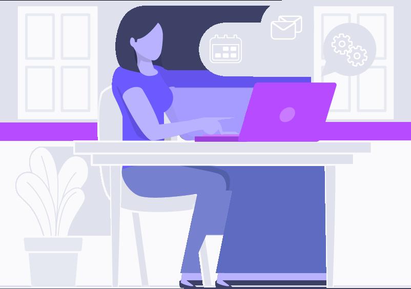 Una empleada mujer desarrollando software con código fuente